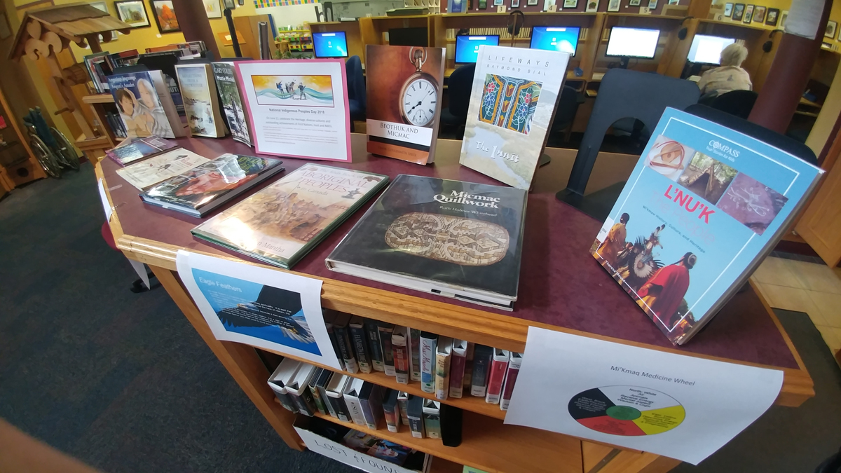 Mi'kmaq Books on Display at Kindale Library
